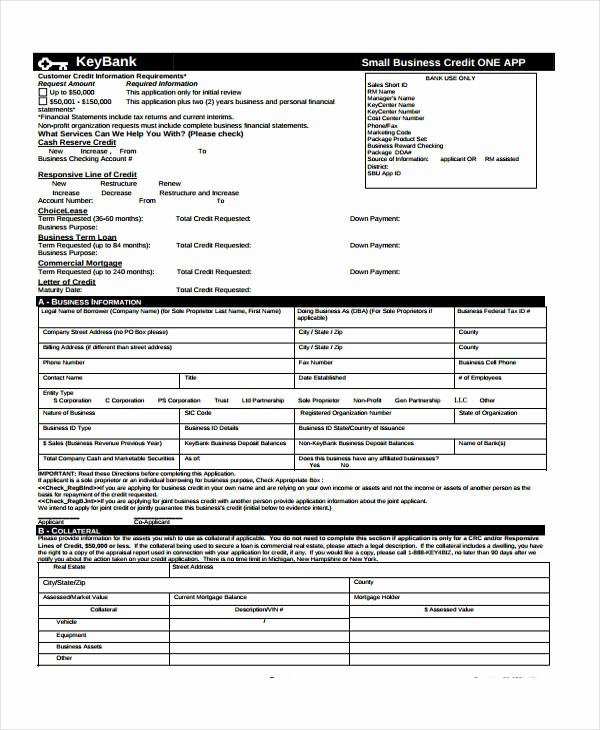 Business to Business Credit Application Awesome 9 Business Credit Application form Free Sample Example