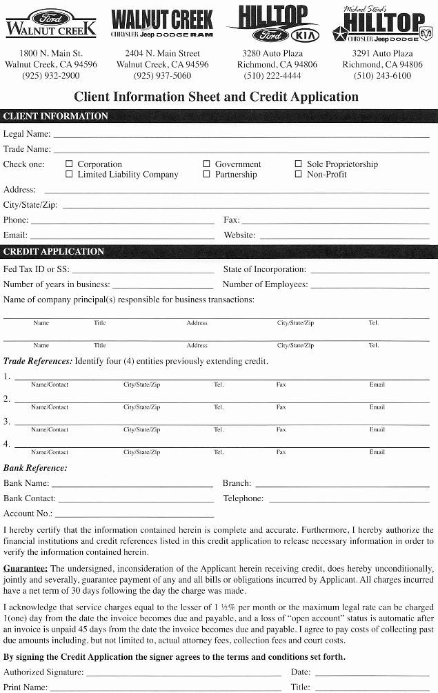 Business to Business Credit Application Elegant Chrysler Dodge Jeep & Ram Business Financing Walnut