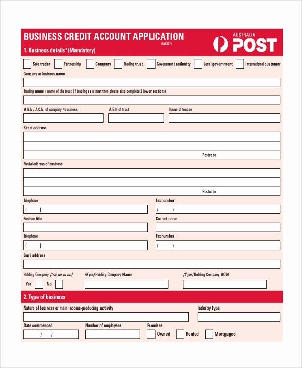 Business to Business Credit Application Fresh Sample Credit Application 10 Free Documents In Pdf