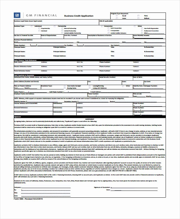 Business to Business Credit Application Inspirational 9 Business Credit Application form Free Sample Example