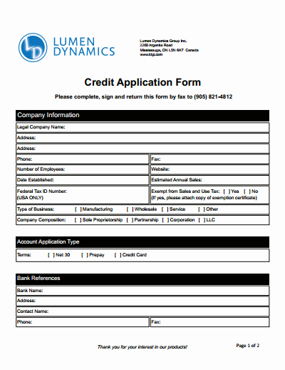 Business to Business Credit Application Inspirational Credit Application form Download Create Edit Fill and