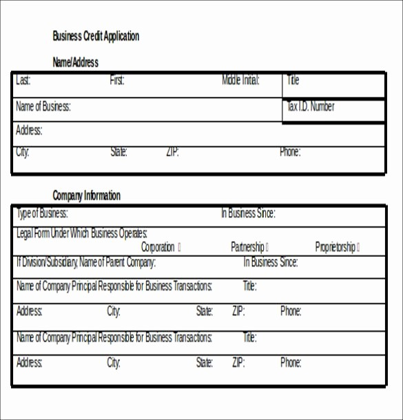 Business to Business Credit Application Lovely Credit Application Template 33 Examples In Pdf Word