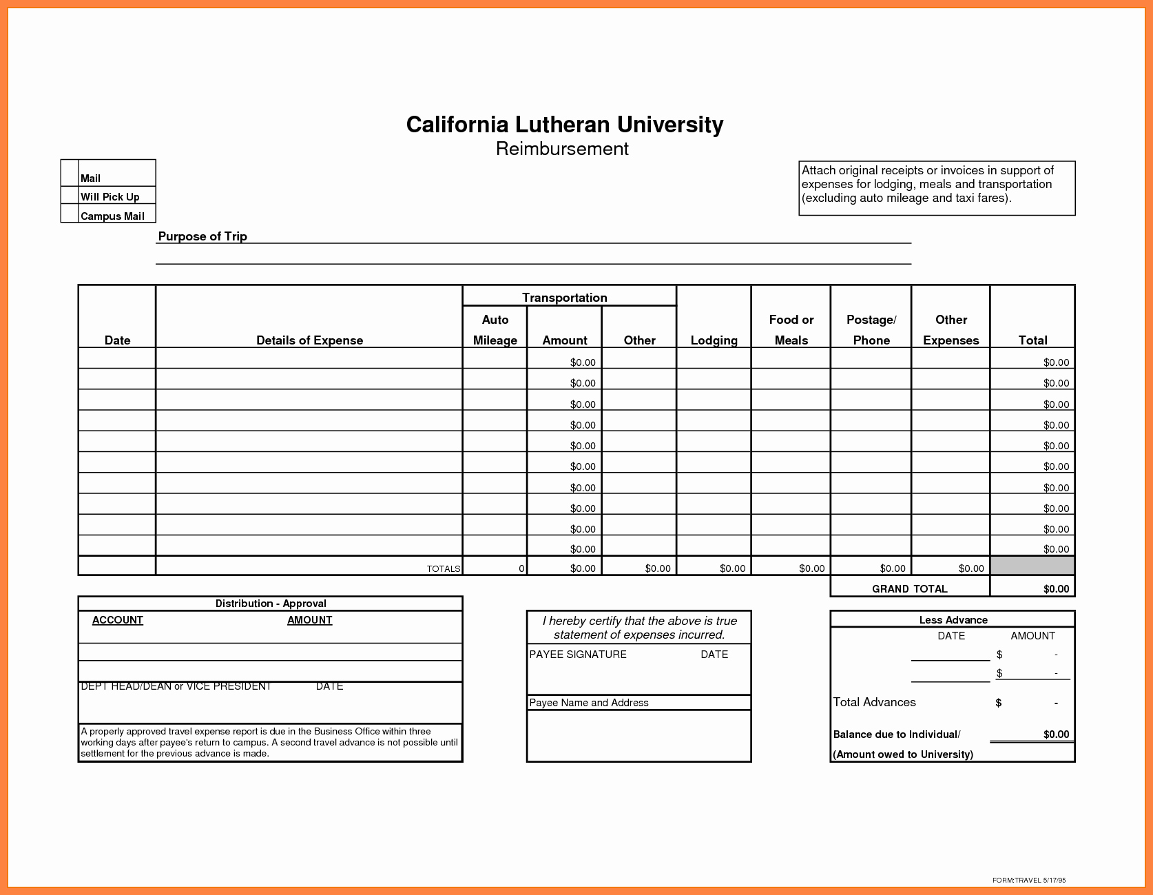 Business Travel Expense Report Template Awesome 8 Microsoft Office Expense Report Template