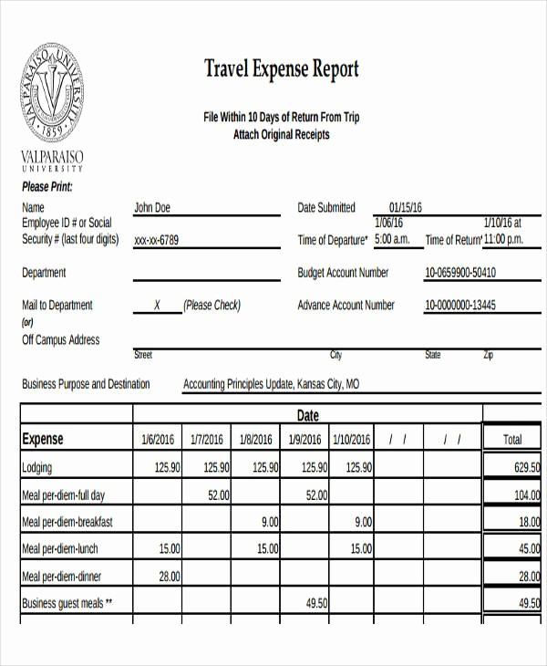 Business Travel Expense Report Template Beautiful 29 Expense Report Template In Pdf