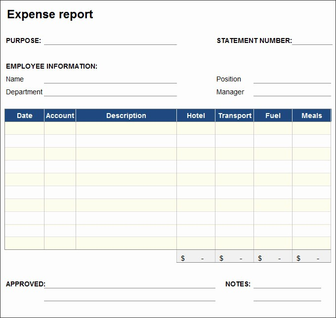 Business Travel Expense Report Template Lovely 27 Expense Report Templates Pdf Doc