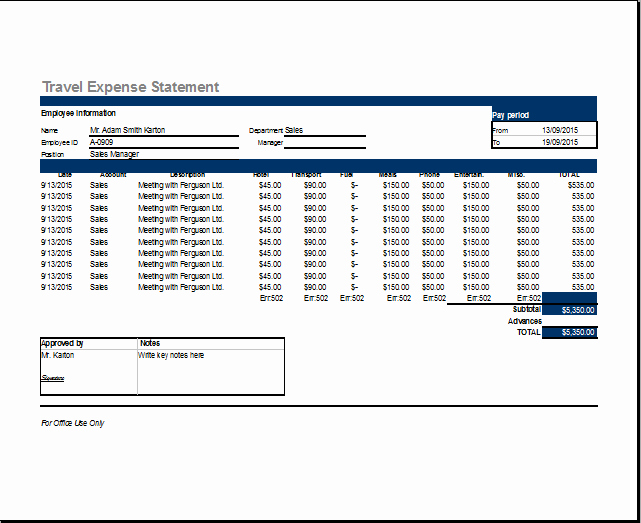 Business Travel Expense Report Template Luxury Sample Templates Page 3 Of 20 Free formats Excel Word