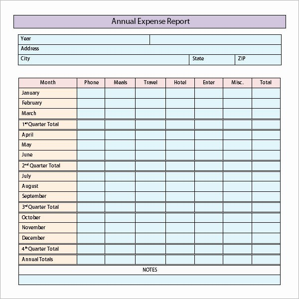 Business Travel Expense Report Template New 9 Sample Expense Report Templates