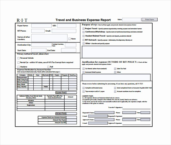 Business Travel Expense Report Template Unique 11 Expense Sheet Templates – Free Sample Example format