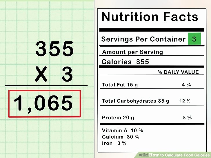 Calculate Fat Percentage In Food New How to Calculate Food Calories 11 Steps with