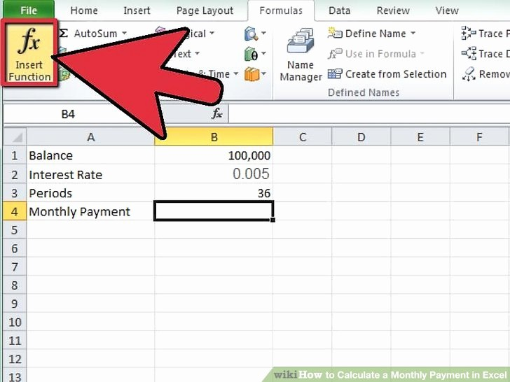 Calculate Monthly Mortgage Payment Excel Best Of Calculate the Payment A Loan with the Pmt Function In