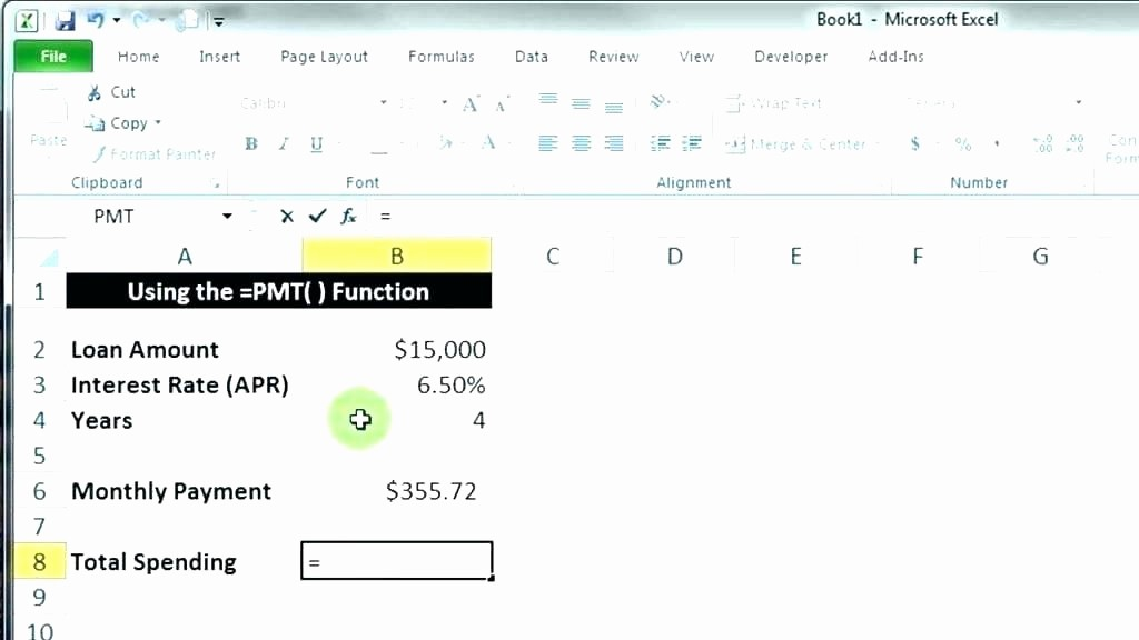 Calculate Monthly Mortgage Payment Excel Unique Mortgage formula In Excel Amortization Schedule In Excel