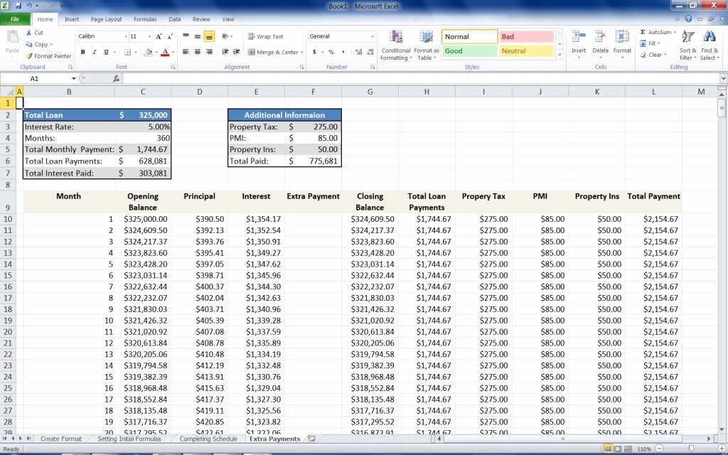 Calculate Monthly Mortgage Payment Excel Unique Mortgage Loan Calculator Using Excel