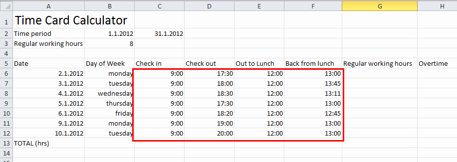 Calculate Time Card In Excel Inspirational How to Make Timesheet Calculator Excel Excel Timesheet