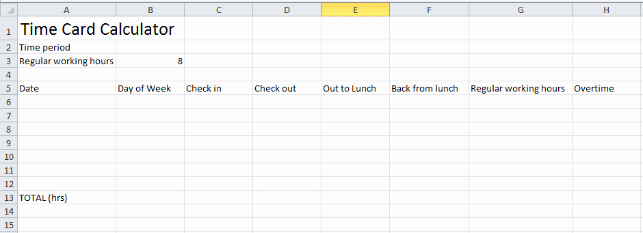 Calculate Time Card In Excel Luxury How to Calculate Time In Excel Spreadsheet