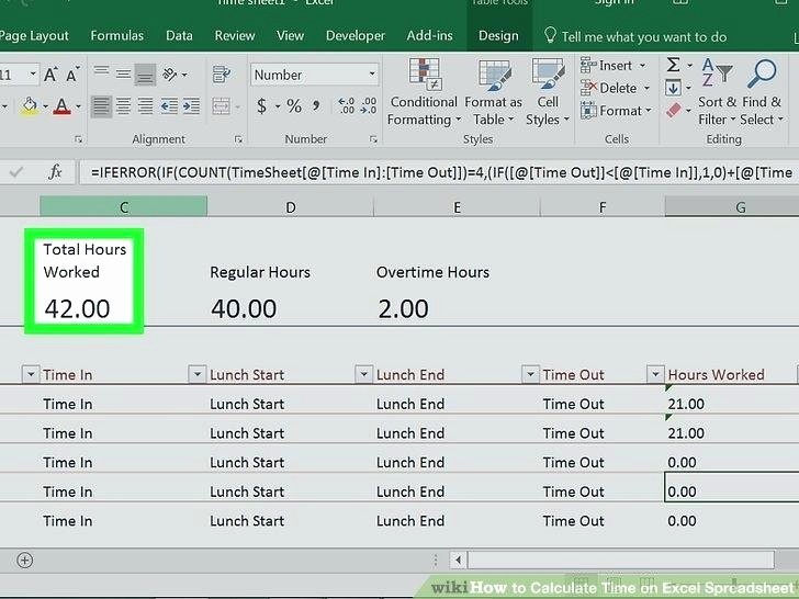 Calculate Time Card In Excel Unique Time Card Calculator with Lunch Breaks Excel