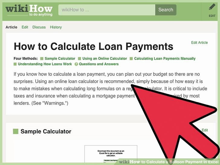 Calculating Mortgage Payment In Excel Awesome How to Calculate A Balloon Payment In Excel with