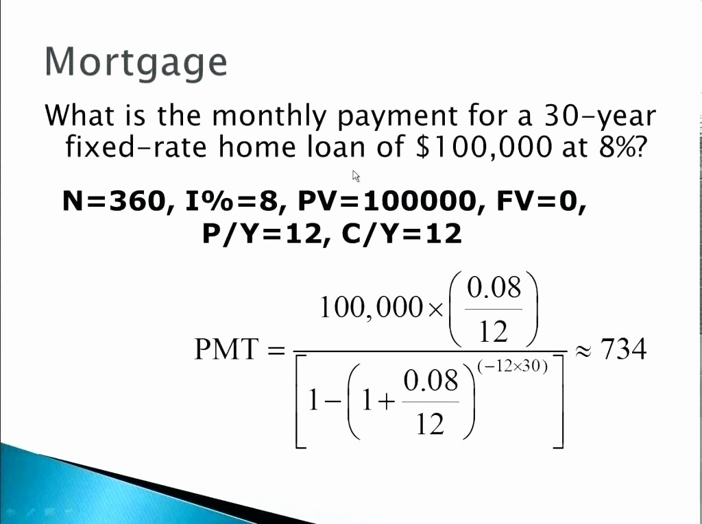 Calculating Mortgage Payment In Excel Elegant Calculating Mortgage Payments In Excel Calculate Mortgage