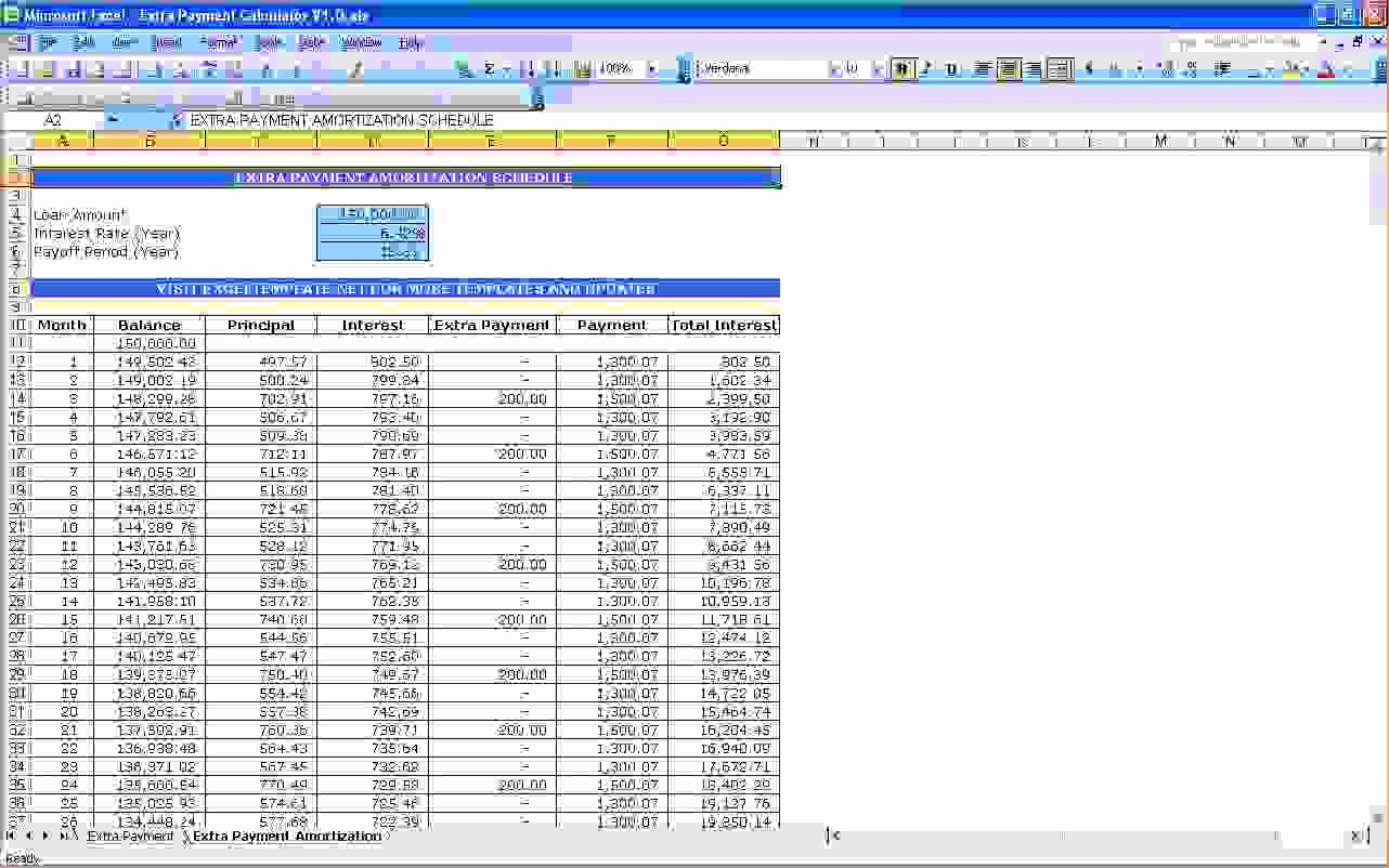 Calculating Mortgage Payment In Excel Inspirational 7 Mortgage Calculator Excel Template