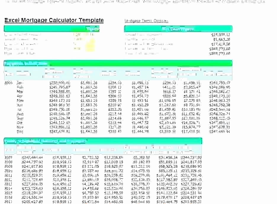 Calculating Mortgage Payment In Excel Inspirational Mortgage Calculator Excel Spreadsheet Template – Ddmoon