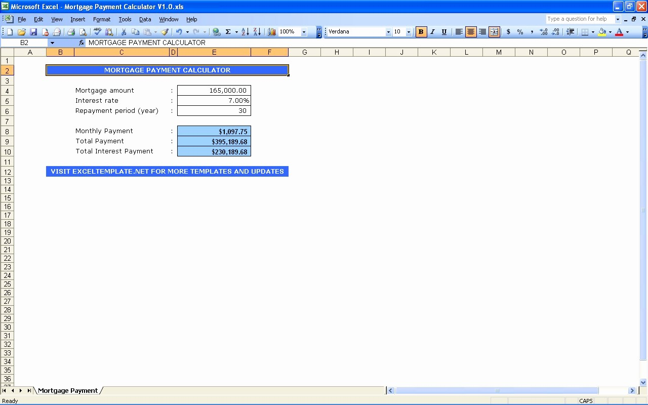 Calculating Mortgage Payment In Excel Luxury Amortization Schedule Calculator