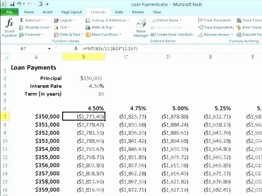 Calculating Mortgage Payment In Excel Unique Calculating Mortgage Payments In Excel Calculate Mortgage