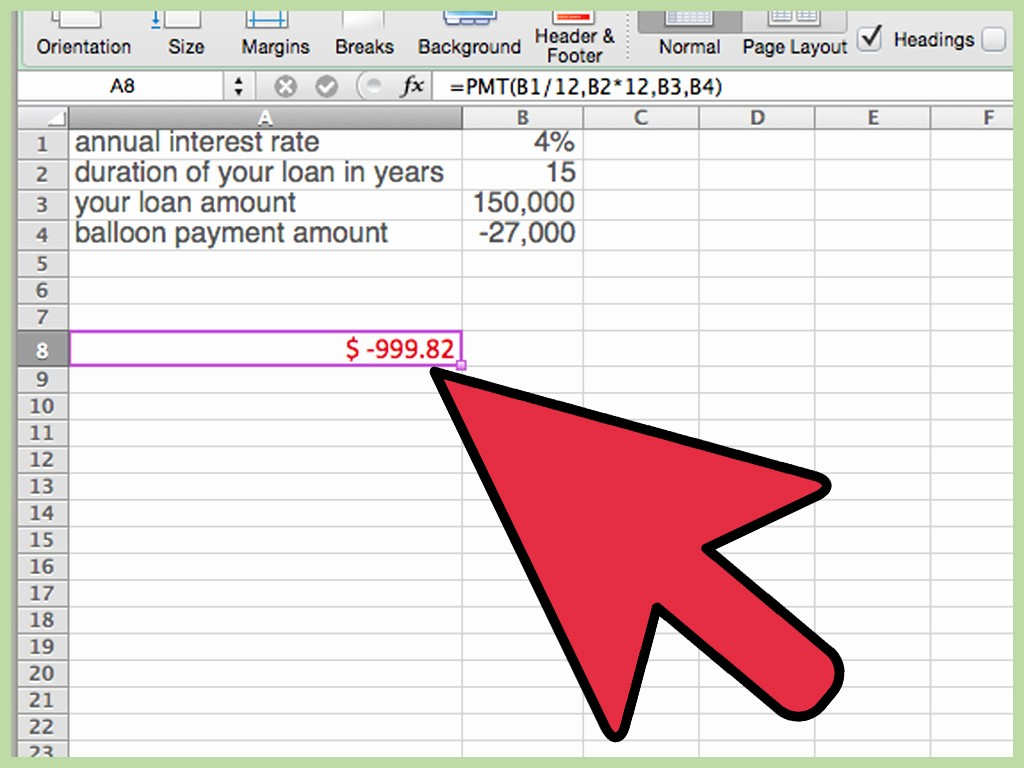 Calculating Mortgage Payments In Excel Best Of How to Calculate A Balloon Payment In Excel with
