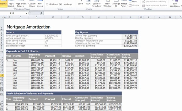 Calculating Mortgage Payments In Excel New Home Mortgage Calculator Template for Excel