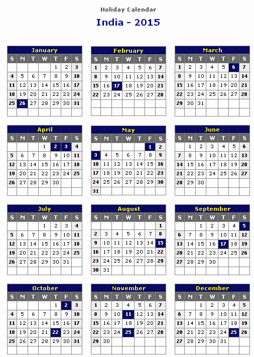 Calendar 2015 Printable with Holidays Best Of 2015 Calendar with Indian Holidays for Page 2