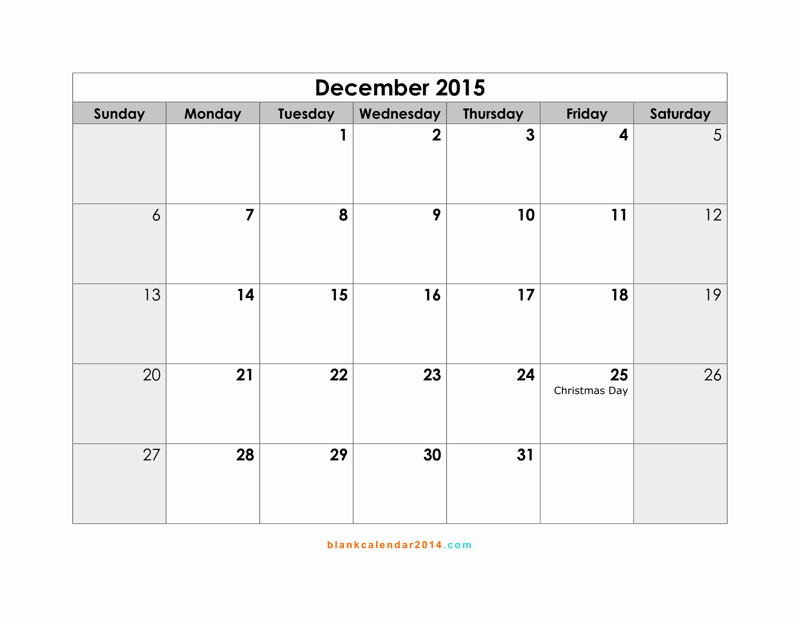 Calendar 2015 Printable with Holidays Elegant 2015 Calendar Template with Holidays