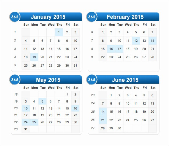 Calendar 2015 Printable with Holidays Fresh 2015 Calendar Templates – 7 Free Samples Examples