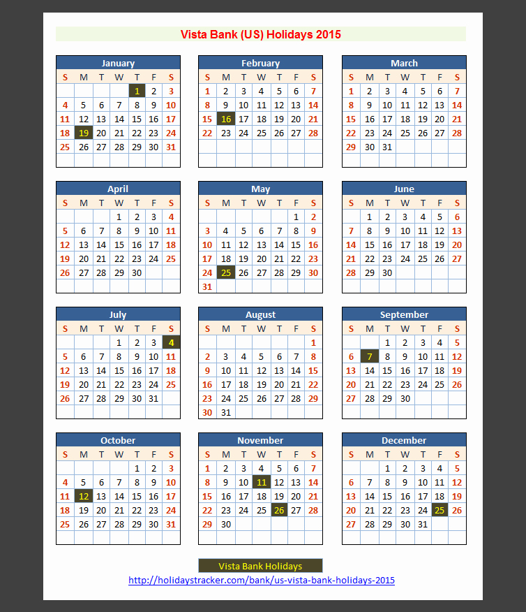 Calendar 2015 Printable with Holidays Fresh Calendar 2014 Printable with Bank Holidays Us 2015