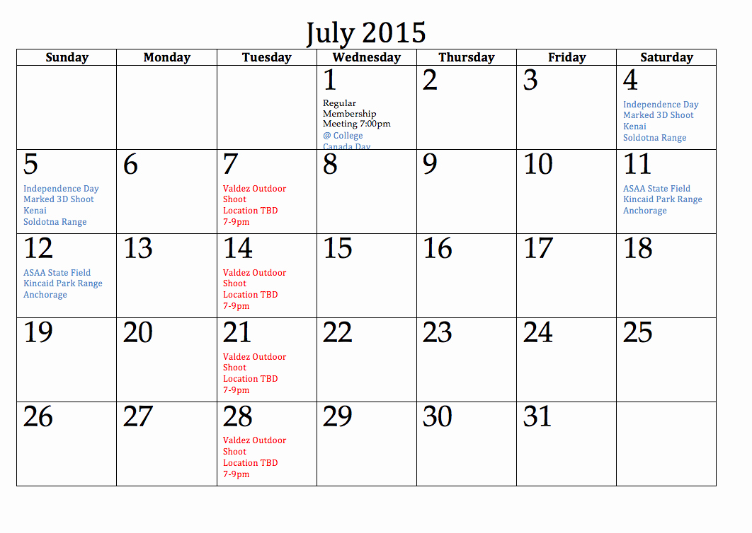 Calendar 2015 Printable with Holidays Fresh July 2015 Calendar Holidays Get An Exclusive Collection