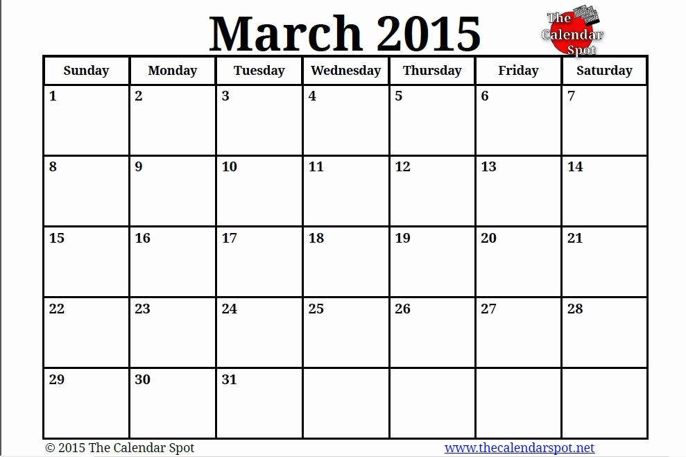 Calendar 2015 Printable with Holidays Luxury March 2015 Calendar with Holidays and 2015 March Calendar