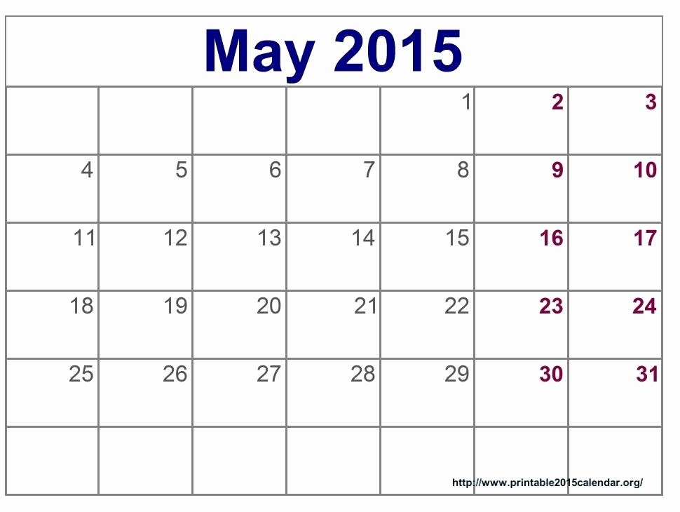 Calendar 2015 Printable with Holidays Unique May 2015 Calendar Printable Pdf Template Excel Doc
