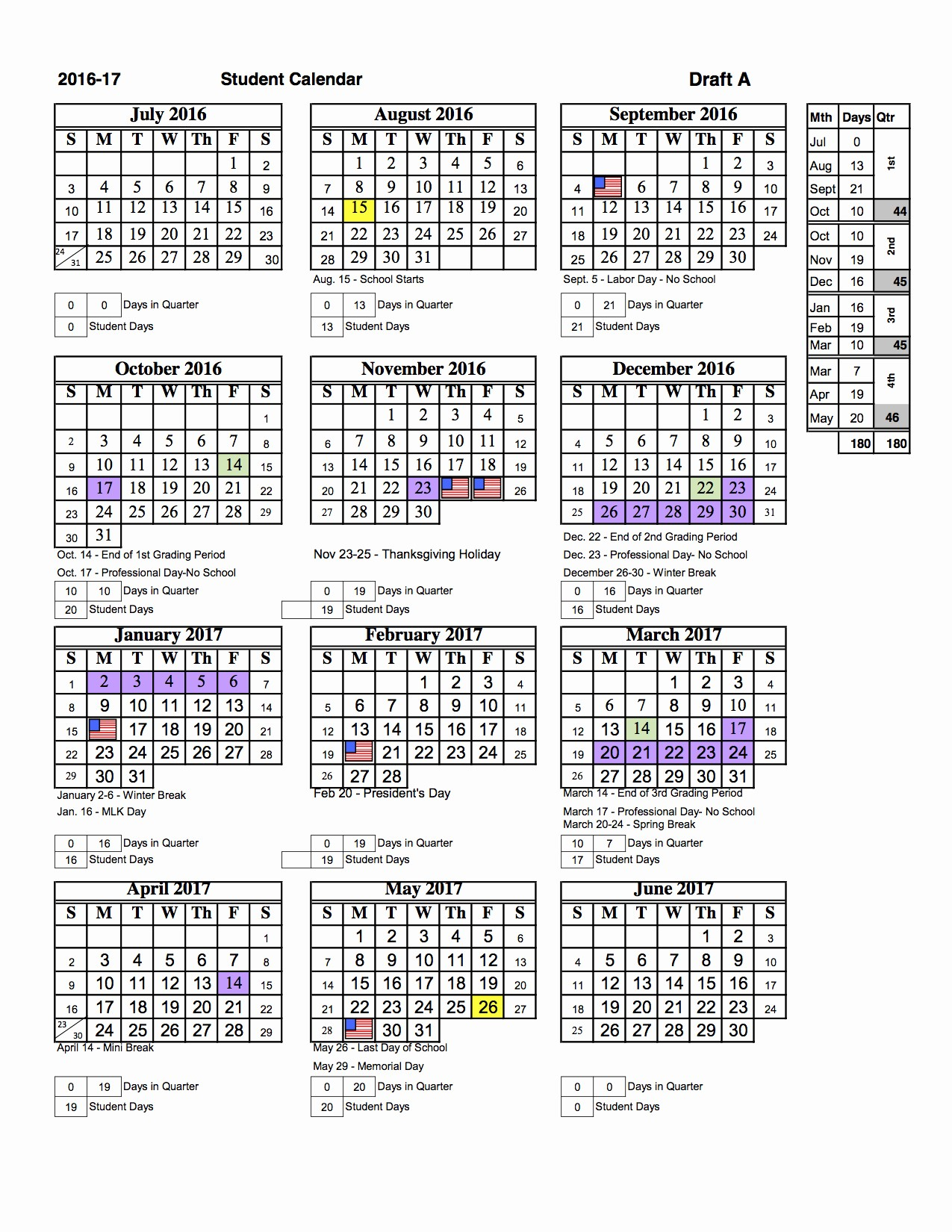 Calendar 2016-17 Template Fresh Sarasota County Students Will Return to Classes Earlier