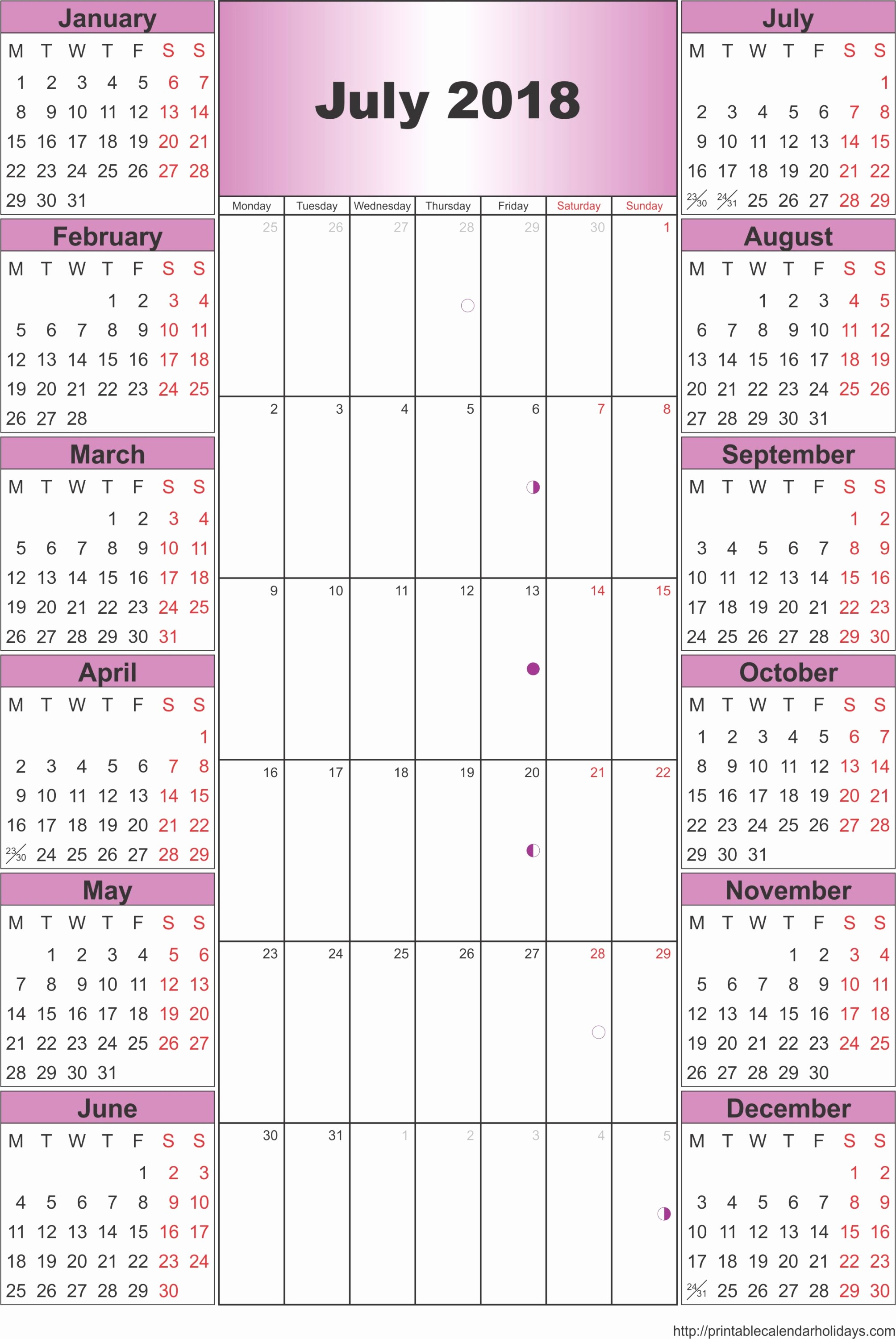 Calendar 2016 Printable with Holidays Best Of July 2018 Archives Free Printable Calendar 2016 2017