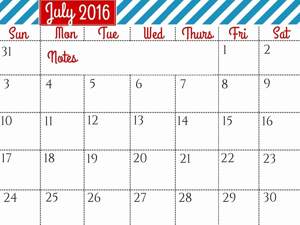 Calendar 2016 Printable with Holidays Inspirational July 2016 Calendar with Holidays [usa Uk Canada
