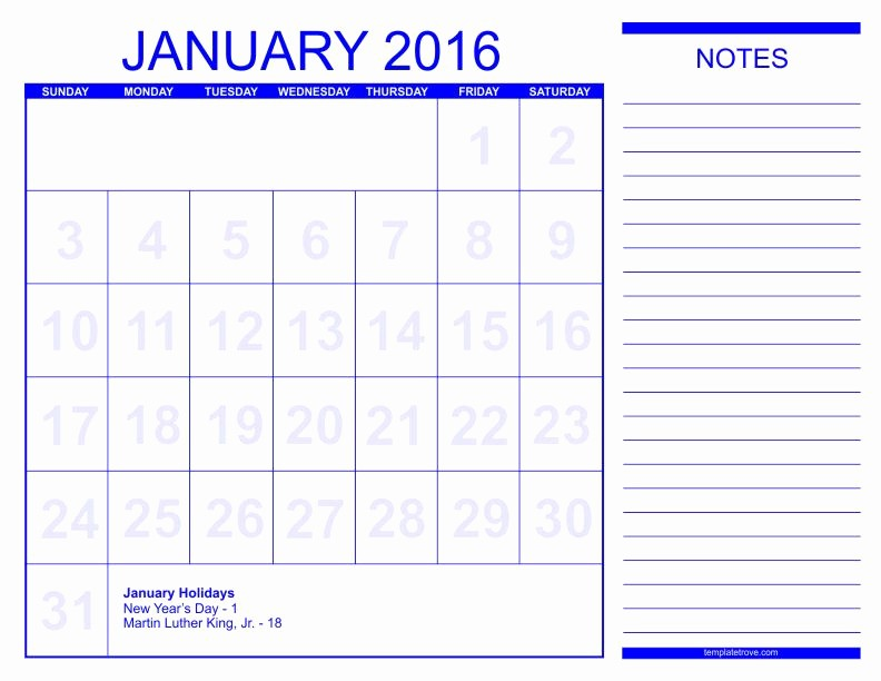 Calendar 2016 to Write On Awesome You Can Write 2016 Print Calendars by Month