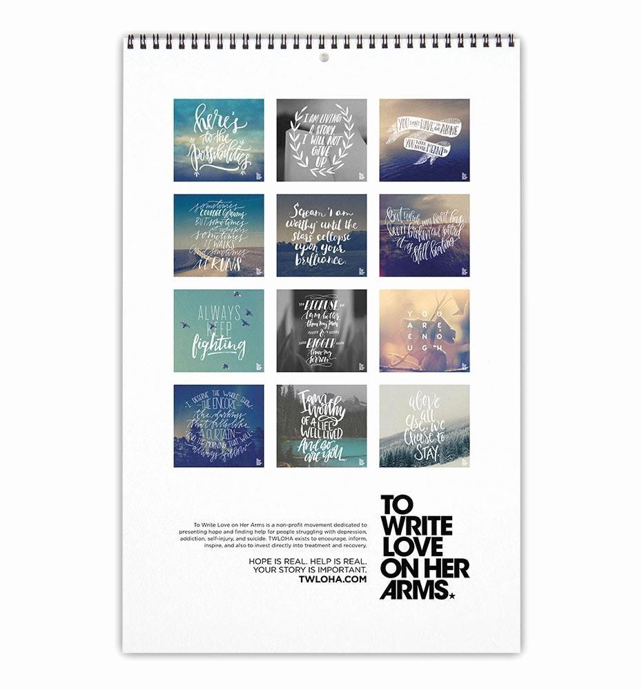 Calendar 2016 to Write On Beautiful 2016 Twloha Calendar – to Write Love On Her Arms