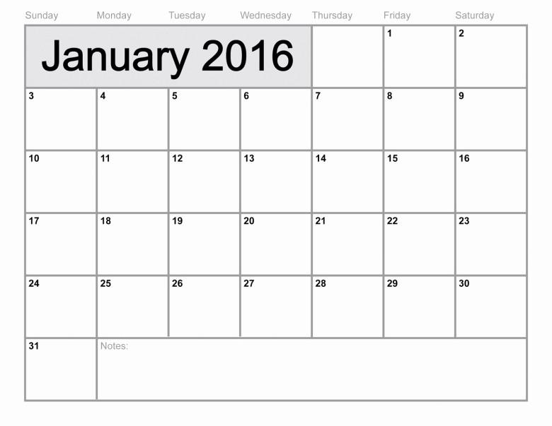 Calendar 2016 to Write On Best Of Blank 2016 Calendar to Write Free Calendar Template