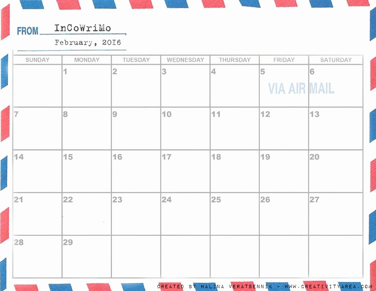 Calendar 2016 to Write On Inspirational Incowrimo 2016 Page 2 the Write Stuff the Fountain