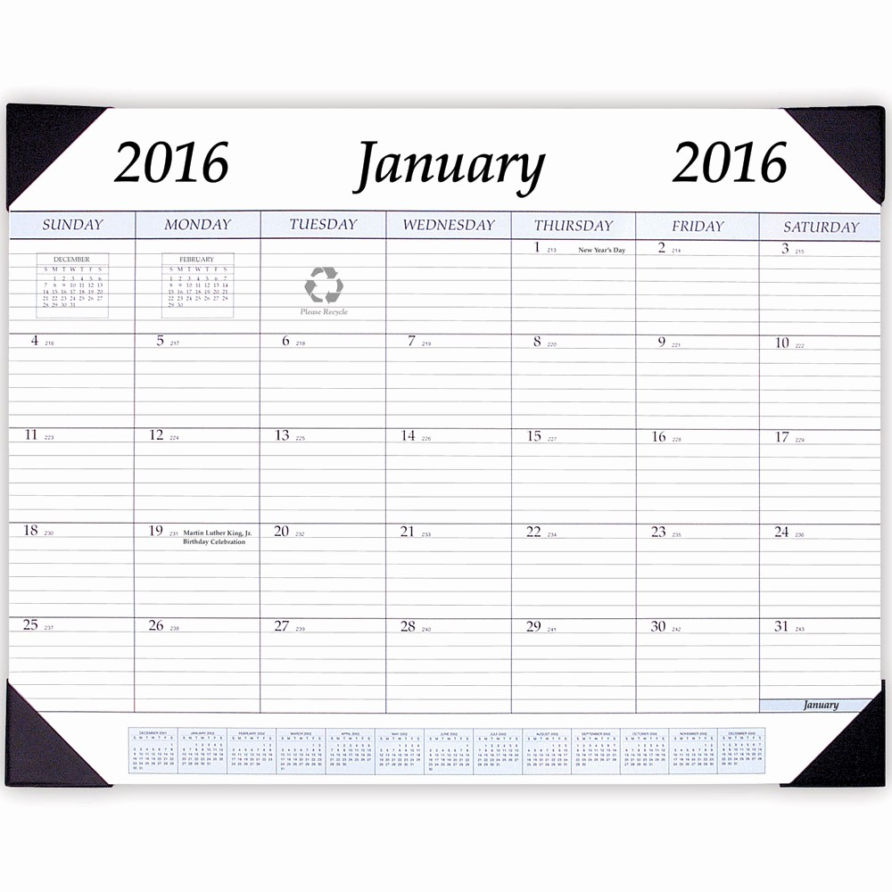 Calendar 2016 to Write On Lovely Calendar with Writing Spaces