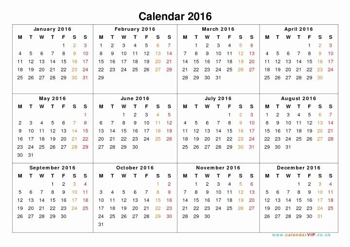 Calendar 2016 to Write On New 2016 One Page Calendar Template Word Calendar 2016
