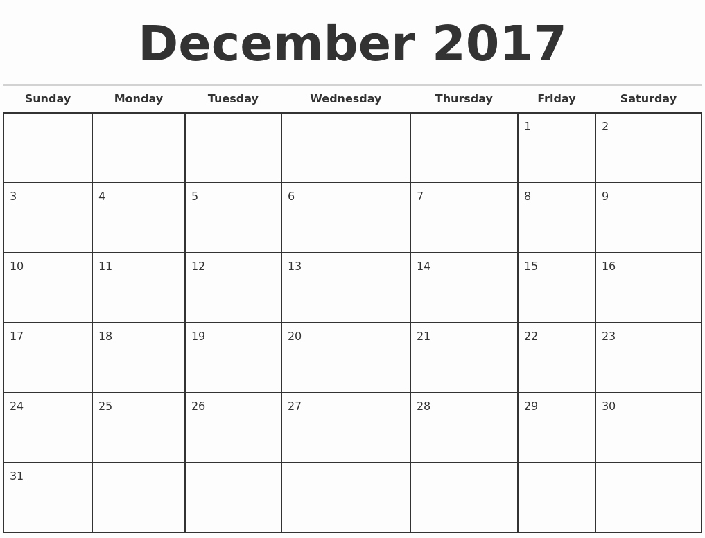 Calendar 2017 Monday to Sunday Beautiful Calendar Template December 2017 Monday Sunday