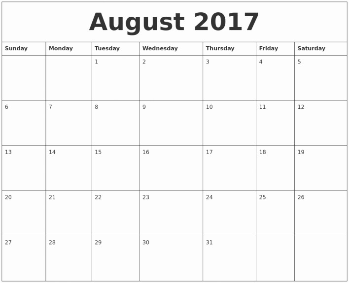 Calendar 2017 Monday to Sunday Best Of Monday Through Sunday Calendar Template