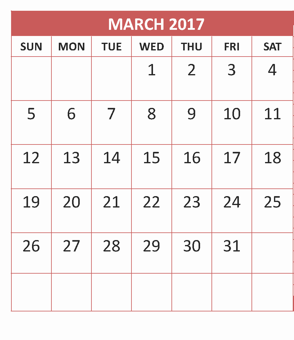 Calendar 2017 Monday to Sunday Fresh March 2017 Calendar Monday to Sunday Calendar and