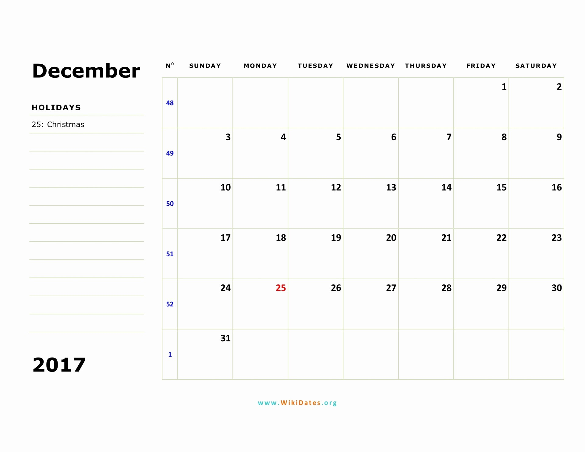 Calendar 2017 Monday to Sunday Inspirational December 2017 Calendar