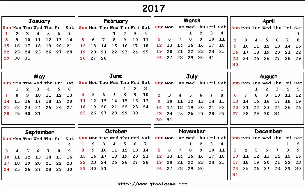 Calendar 2017 Monday to Sunday New 2017 Calendar Printable Calendar 2017 Calendar In