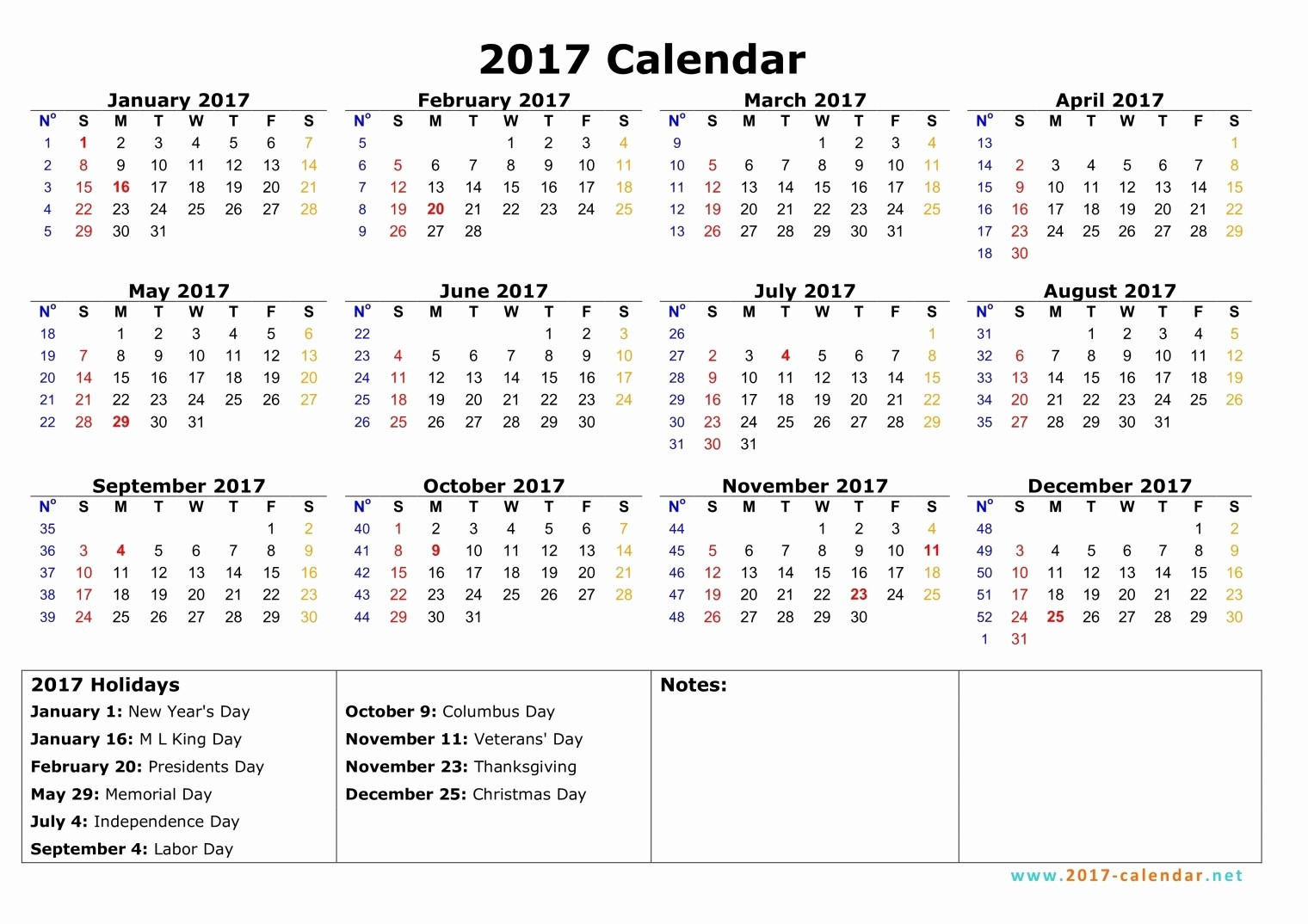 Calendar 2017 Monday to Sunday New Monday to Sunday Monthly Calendar 2017
