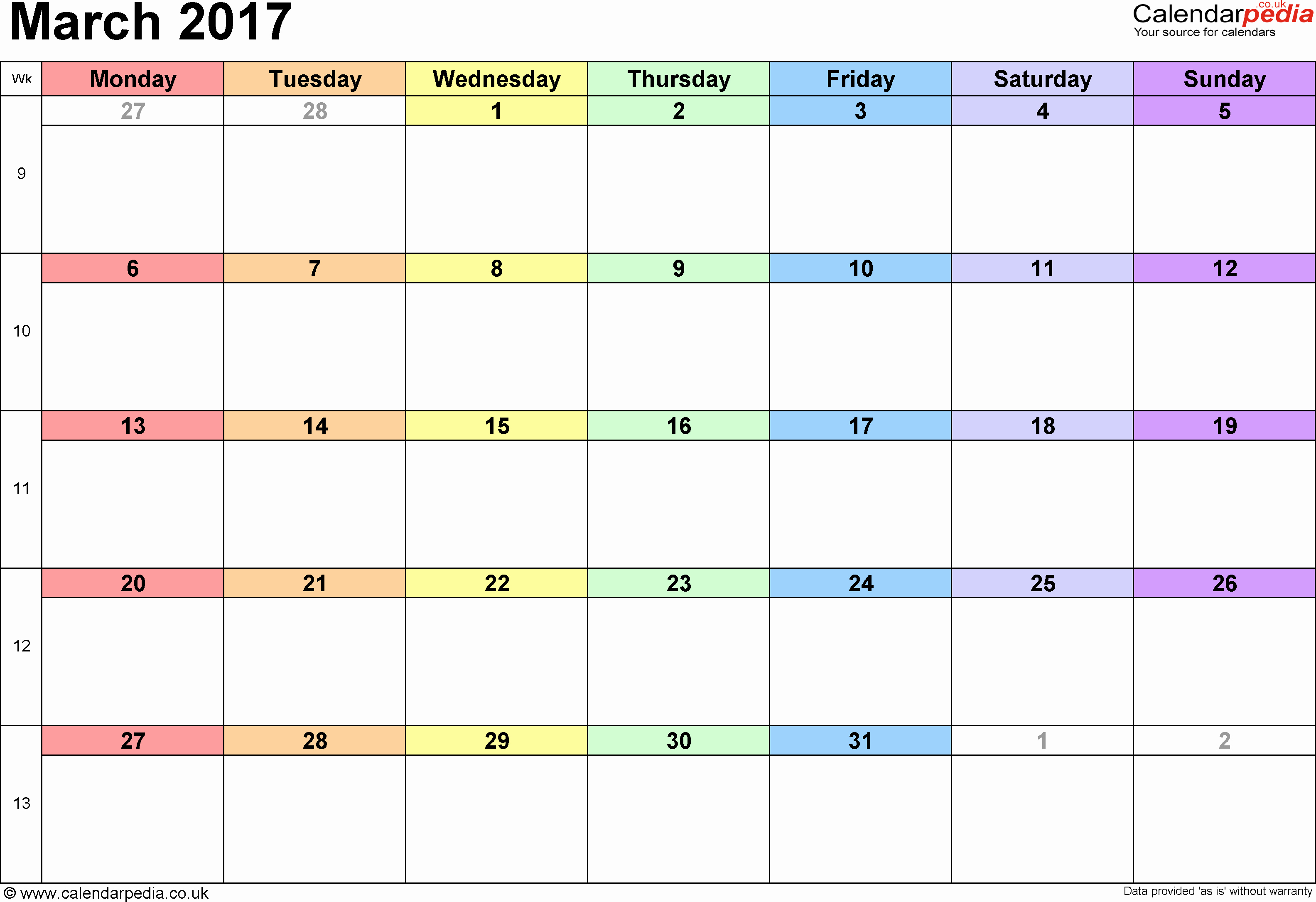 Calendar 2017 Template with Holidays Awesome Calendar March 2017 Uk Bank Holidays Excel Pdf Word